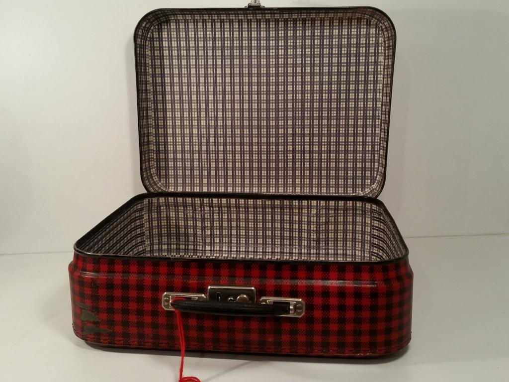 0 valise ecossaise rouge