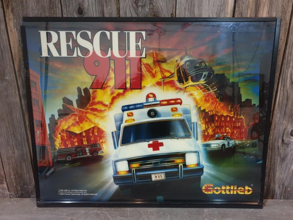 0 vitre de flipper rescue 911