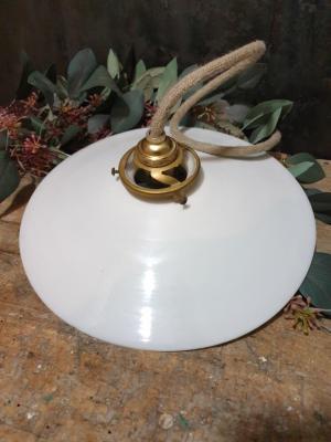 Suspension Opaline blanche