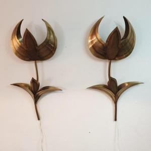01 appliques tulipes laiton
