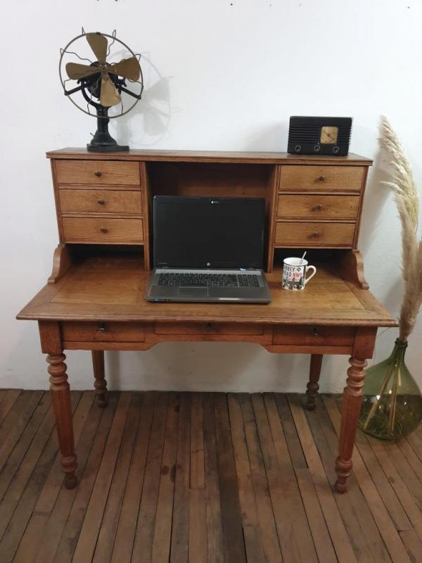 01 bureau secretaire en chene