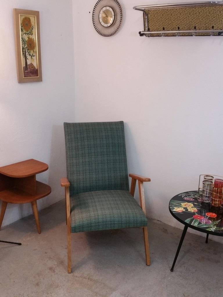 01 fauteuil scandinave vert