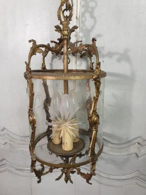 Lustre Lanterne en bronze