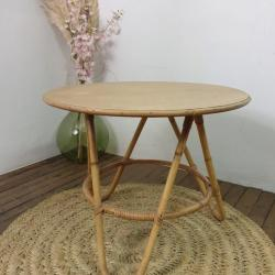 Table basse en bambou