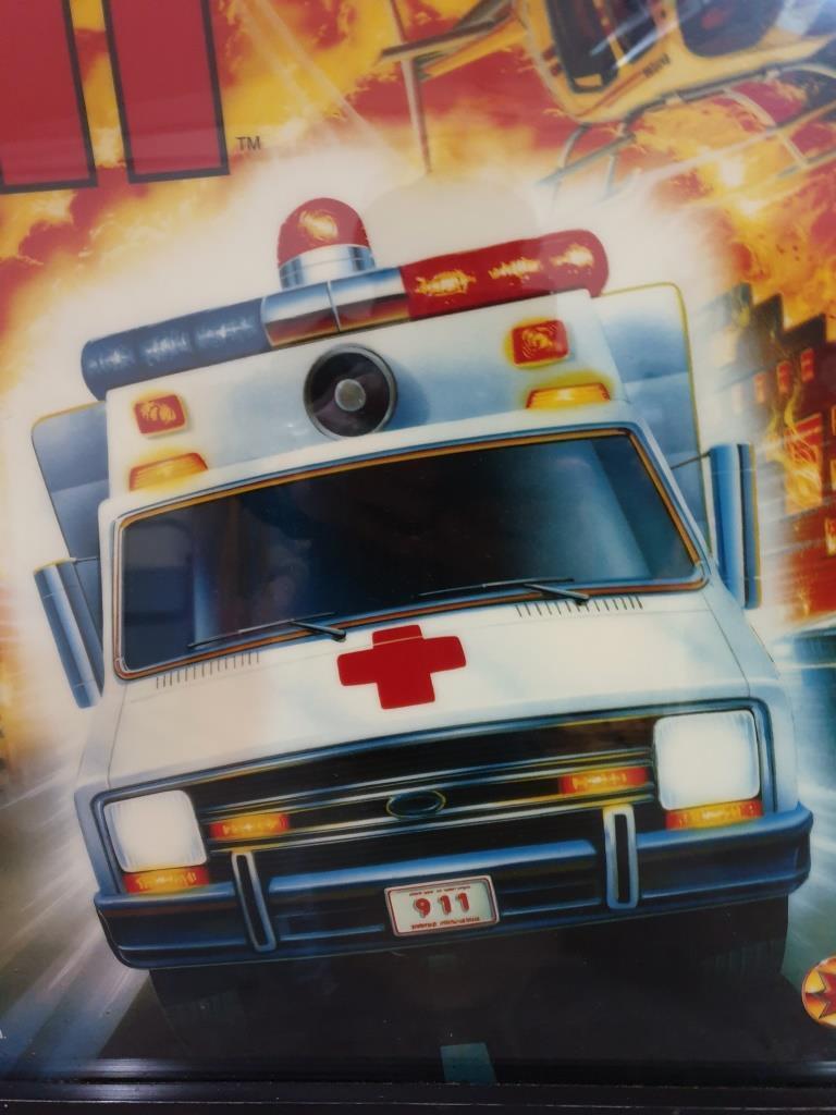 01 vitre de flipper rescue 911