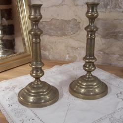 Paire de Bougeoirs anciens