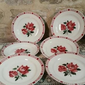 1 6 assiettes plates saverne chocs