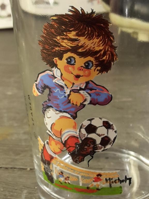 Verre Joueur de foot