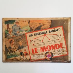 1 affiche assurance le monde