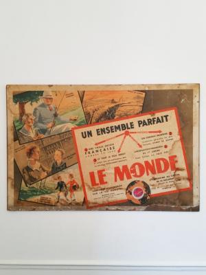 Affiche Assurance LE MONDE