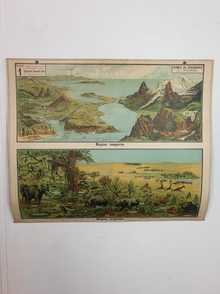 1 affiche d ecole armand colin les region