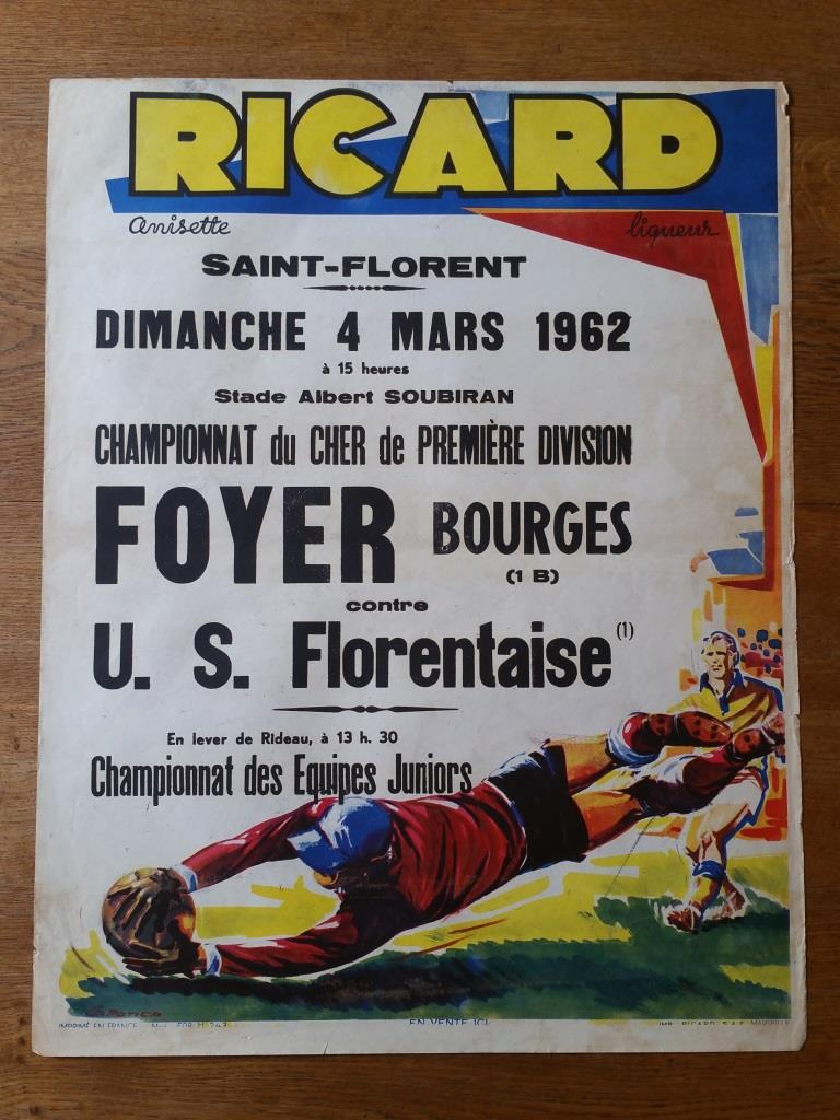 1 affiche de foot ricard foyer