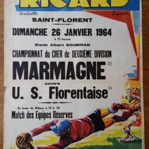 1 affiche de foot ricard marmagne