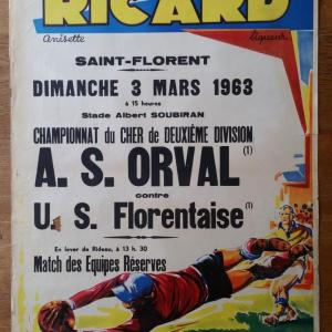 1 affiche foot ricard orval