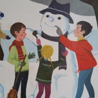 1 affiche hiver boule de neige hiver