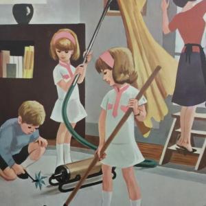 1 affiche scolaire 1967 5 et 6