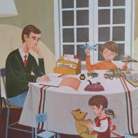 1 affiche un dimanche en famille animaux de la famille