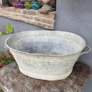 1 bassine oval en zinc