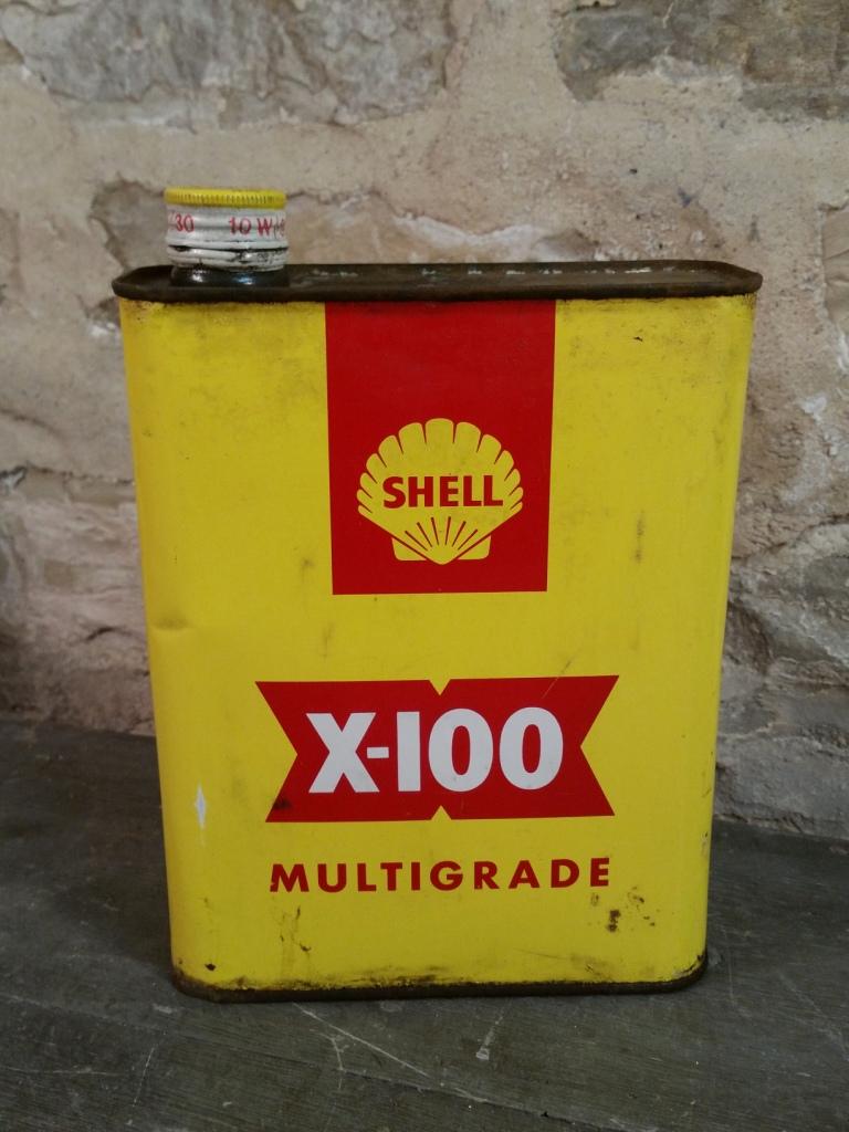 1 bidon huile shell x100