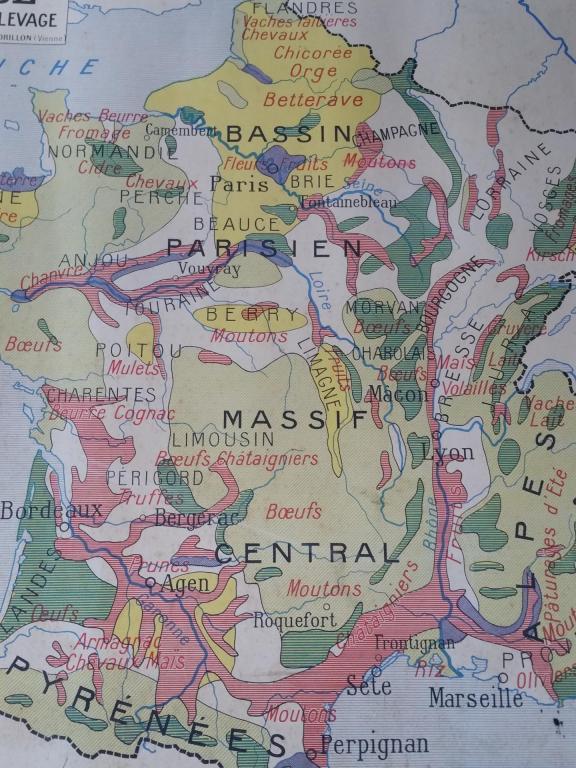 Carte Scolaire 1960