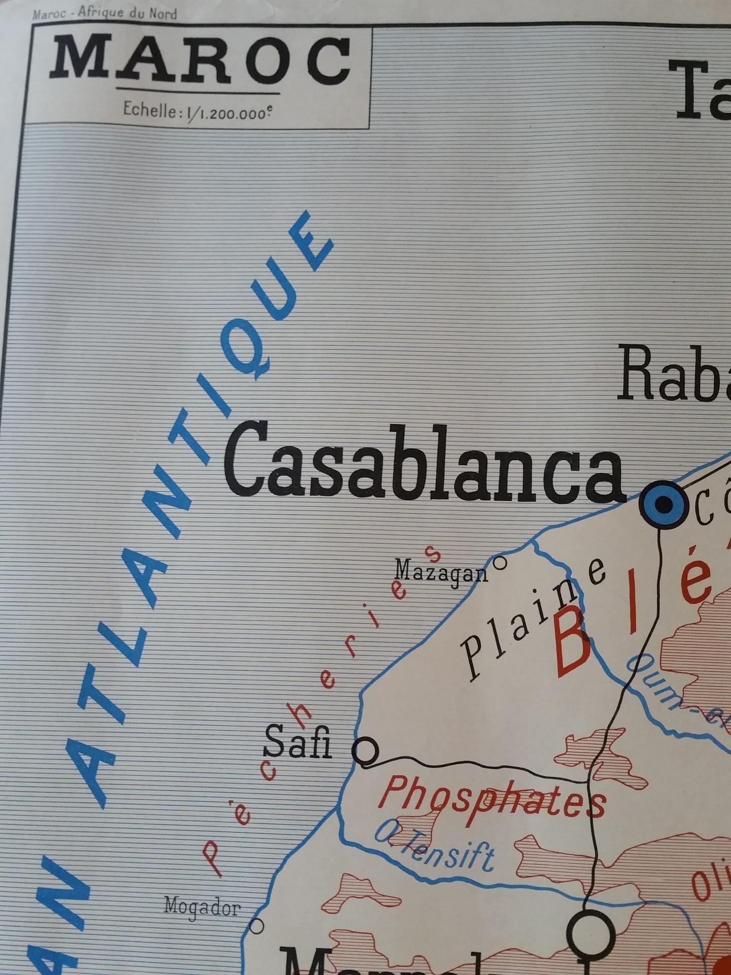 1 carte maroc afrique du nord