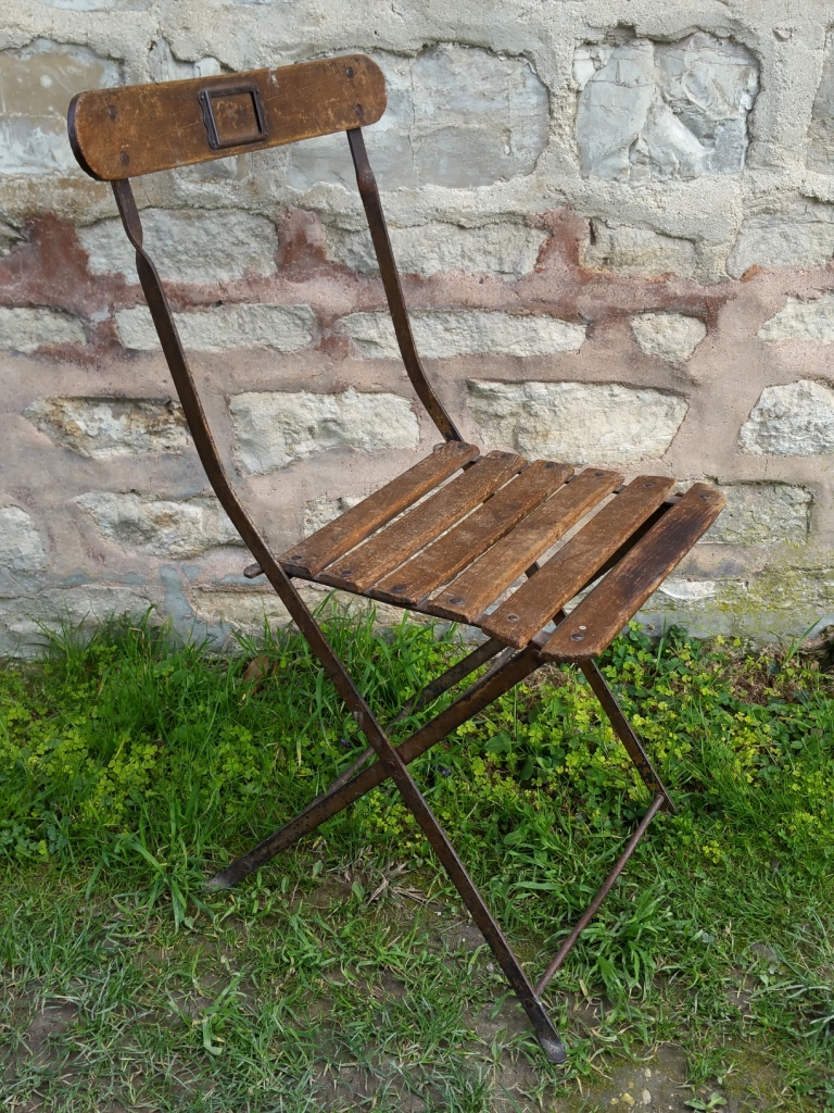 Emejing chaise de jardin pliante ancienne gallery design for Chaise 2eme main