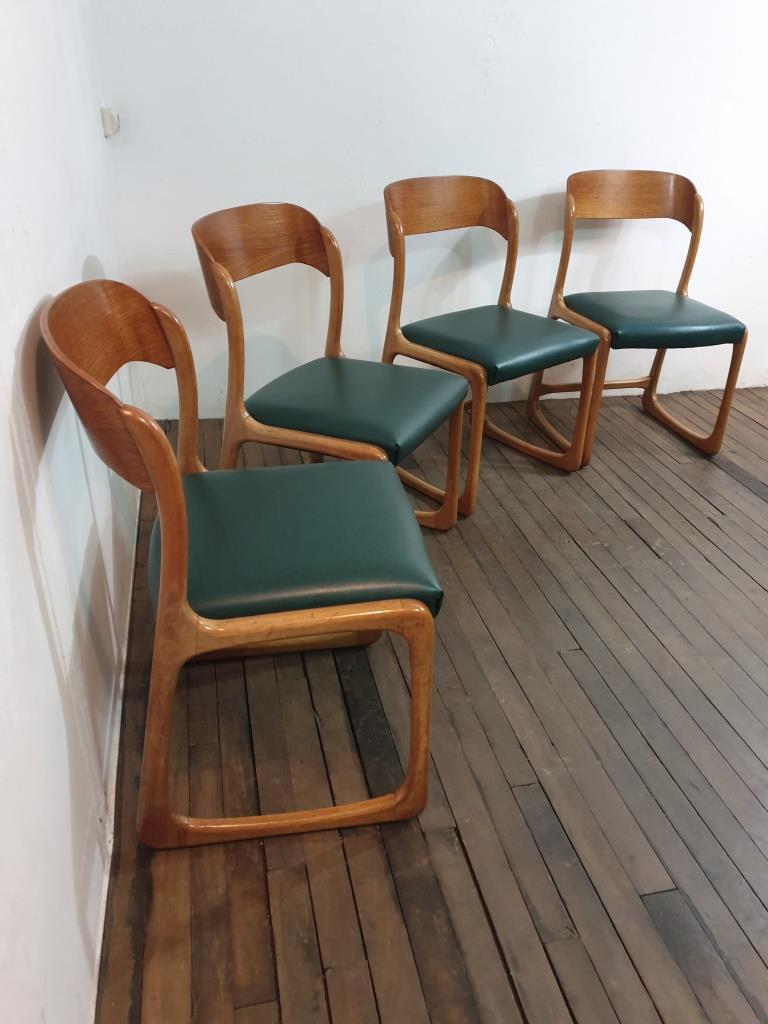 1 chaises traineau baumann