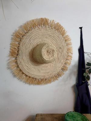 1 chapeau de paille a franges