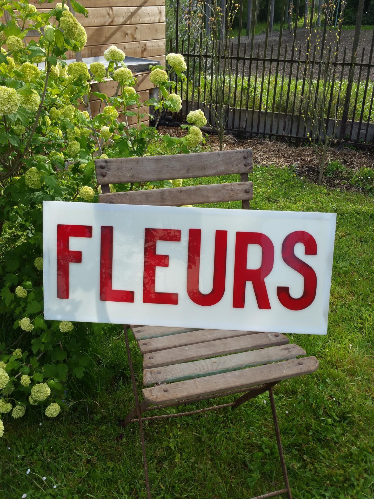 1 enseigne fleuriste