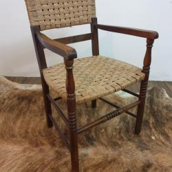 1 fauteuil bois corde