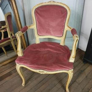 1 fauteuil louis xv