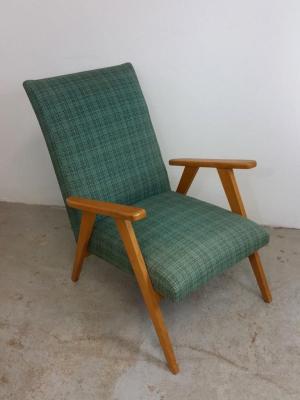 1 fauteuil scandinave vert