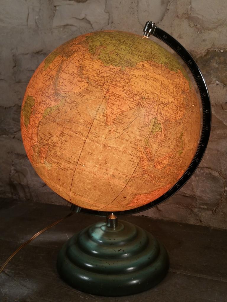 1 globe terrestre lumineux perrina