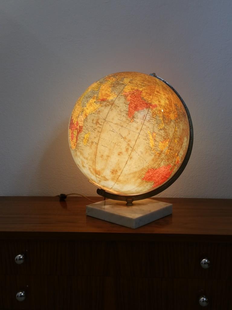1 globe terrestre lumineux taride