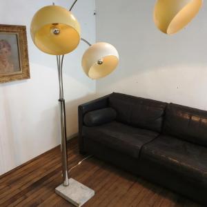 1 lampadaire arc muguet chrome 70 s