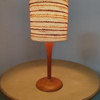 1 lampe bois laine