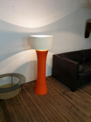 1 lampe ceramique orange