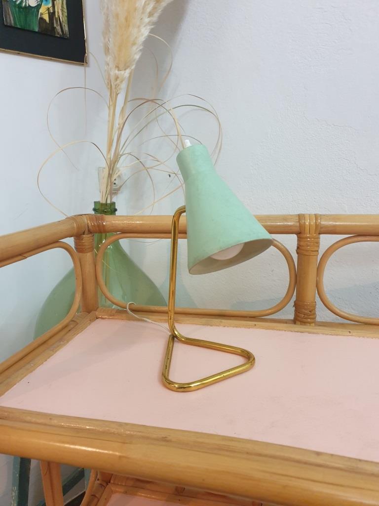 1 lampe cocotte verte pastel