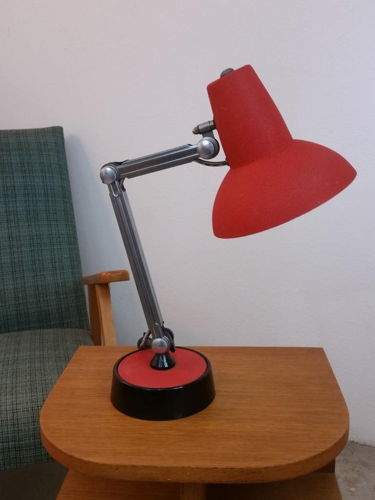 1 lampe de bureau chrome