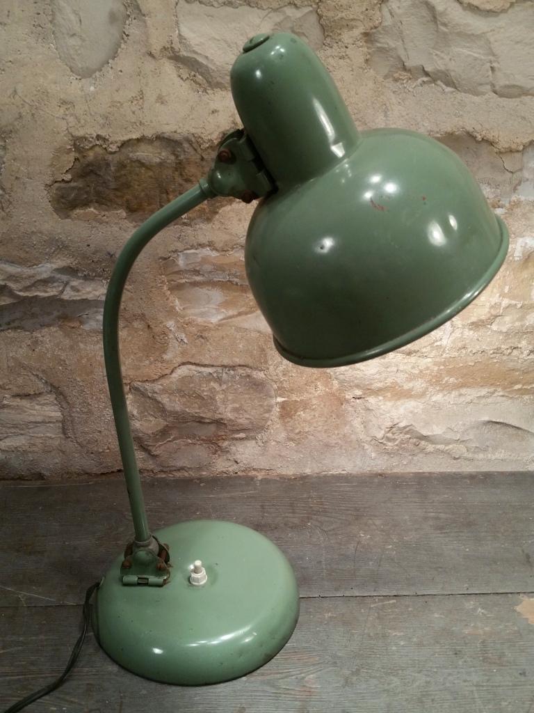 1 lampe de bureau verte