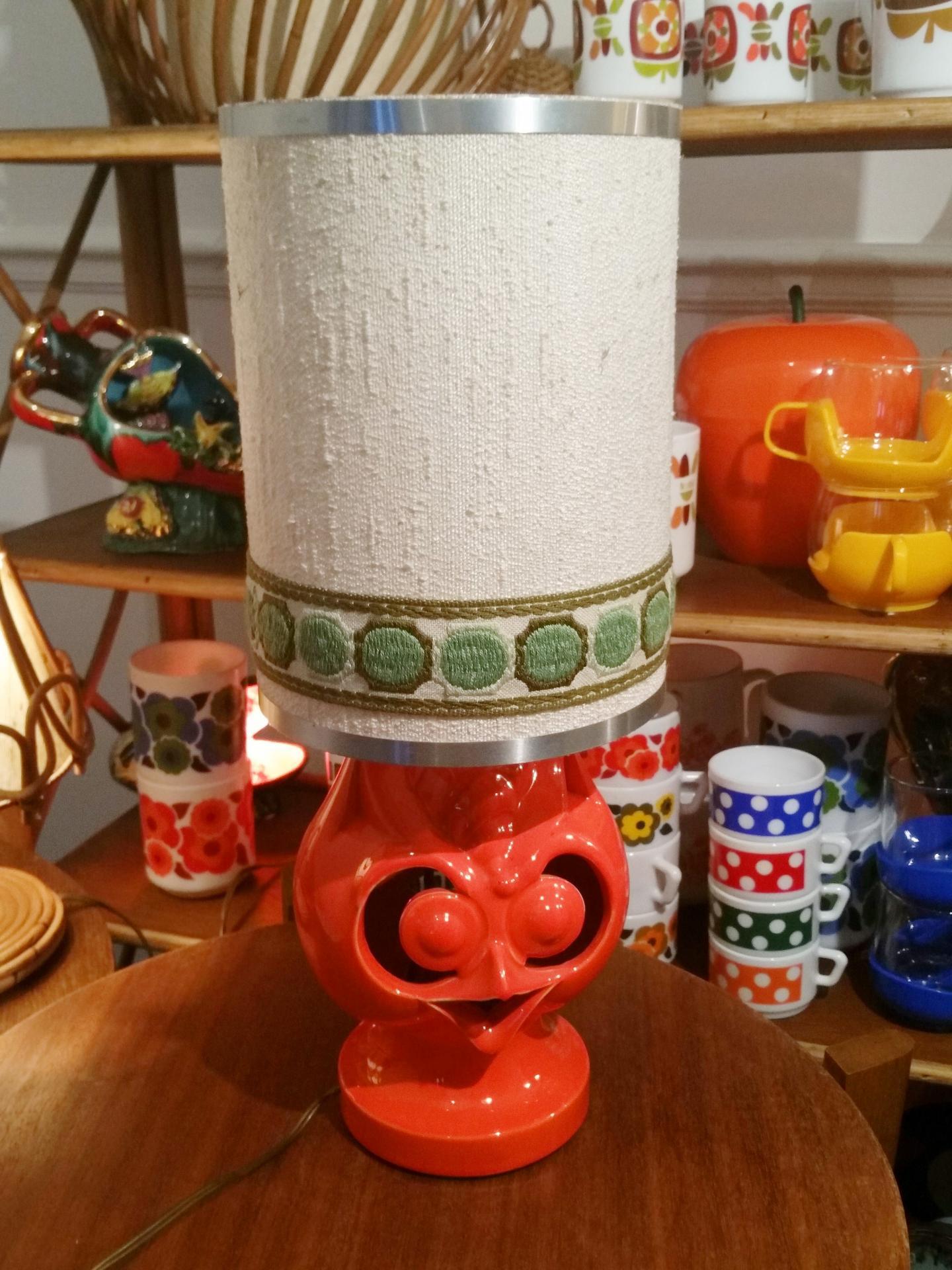 À VintageHibouVintage Lampe Poser Orange ED2H9IeWY