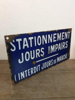 Plaque de stationnement