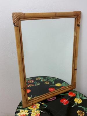 1 miroir bambou