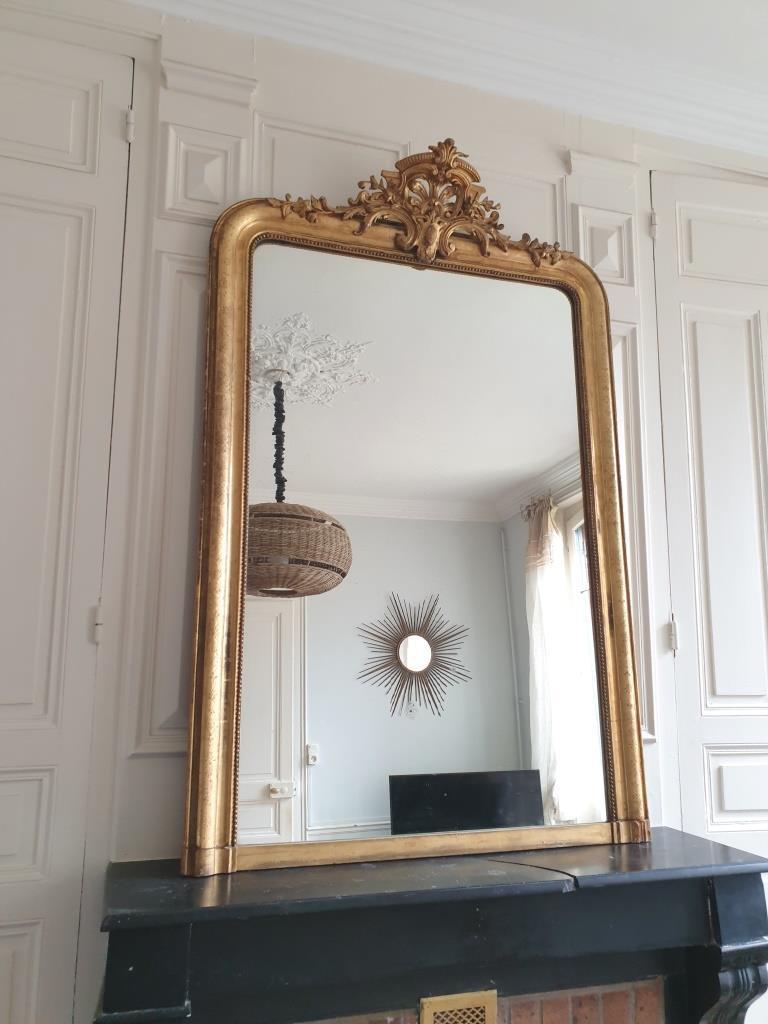 1 miroir dore a fronton