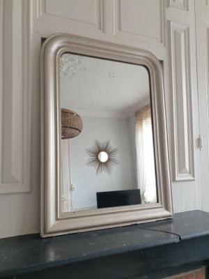 1 miroir louis phillipe patine argentee