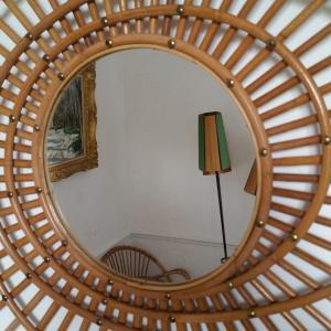 1 miroir rotin forme libre