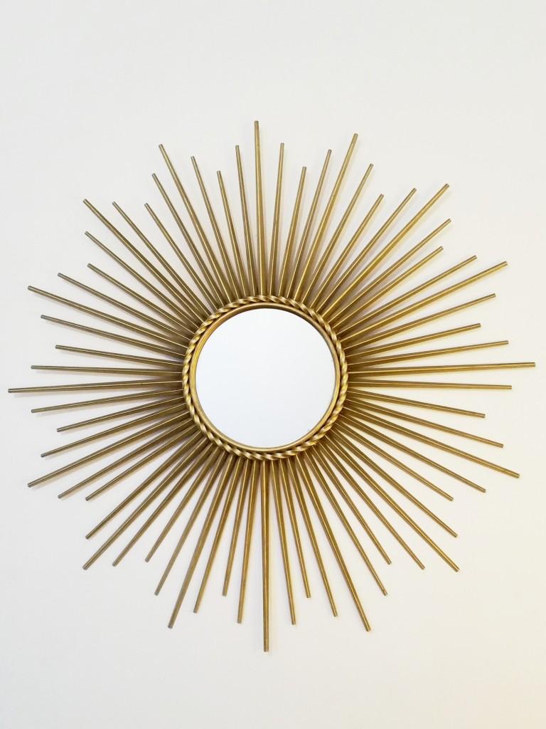 1 miroir soleil rond chaty