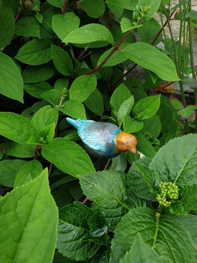 1 oiseau en terre cuite
