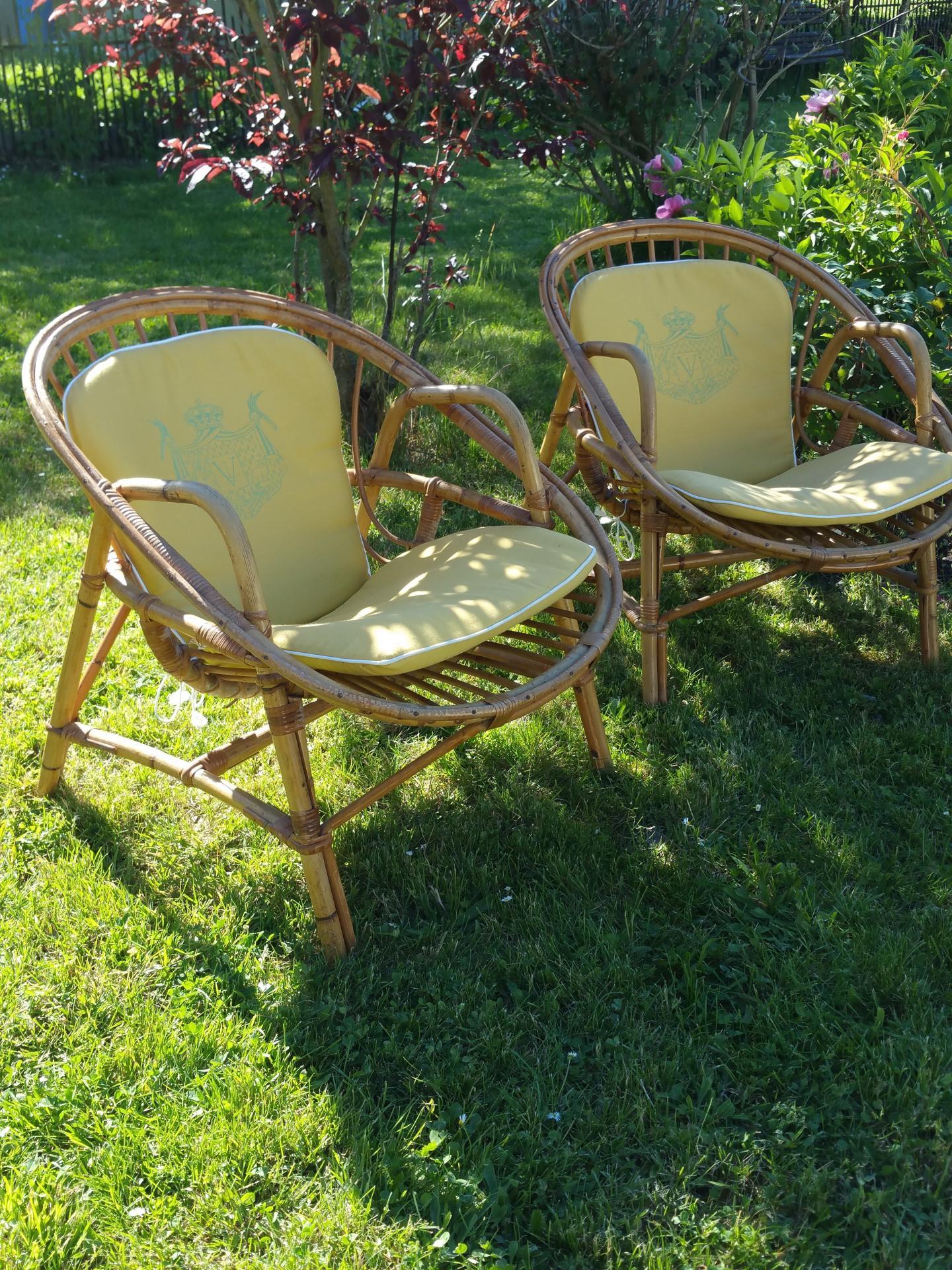 fauteuil vintage en osier fauteuil des ann es 60 fauteuil en rotin. Black Bedroom Furniture Sets. Home Design Ideas