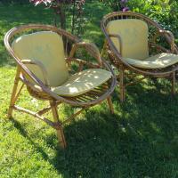 1 paire de fauteuils osier